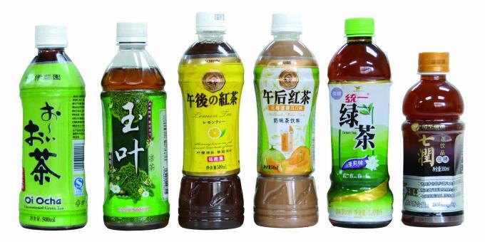 Två sidor flaska automatisk krymphylsa etikettapplikator för mineralvatten