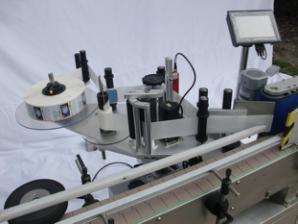 Automatisk rund flaskmärkningsmaskin för icke-torrt lim, träväska / exportförpackningsmärkningsmaskin för CE