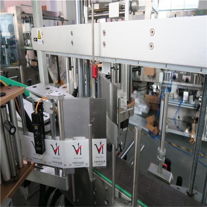 Fram / bak på icke-rund eller platt flasketikettapplikator, utrustning för flaskmärkning