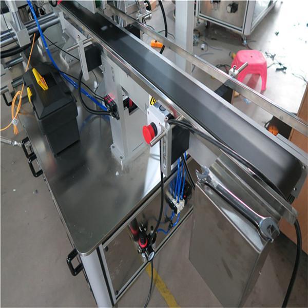 Tre sidor Automatisk fyrkantig flaskmärkningsmaskin Elektrisk driven typ