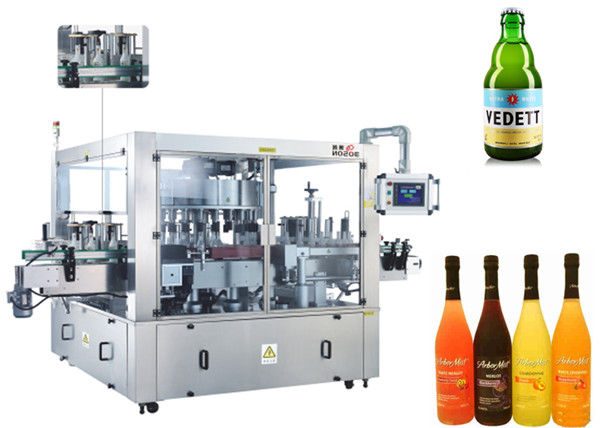 Three Faces Location aAutomatic Sticker Labelling Machine Rotary System Machinery