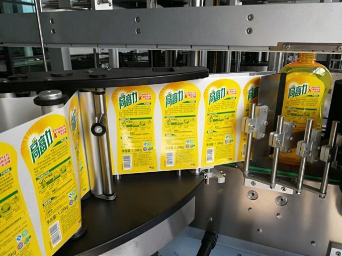 Ensidig fyrkantig flasketikettapplikator med Wrap Around Labelling System