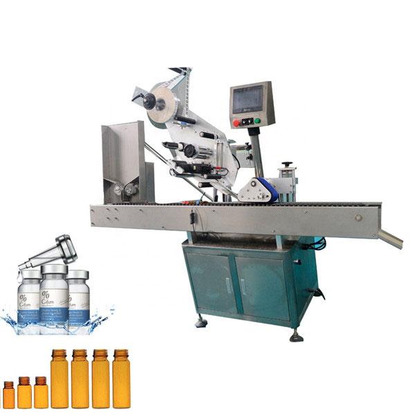 Automatisk tuggummi flaska märkning maskin för 10 ml liten rund flaska