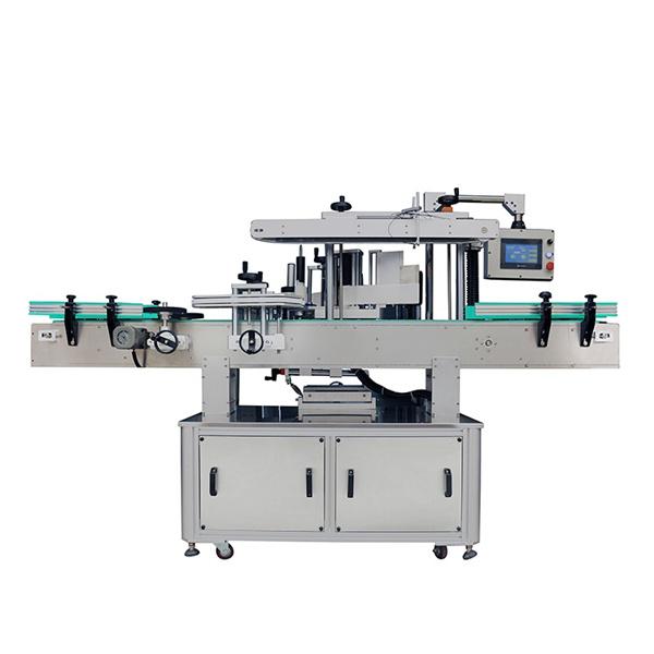 Automatisk rengöringsmedel märkning maskin för schampo runda och platta flaskor