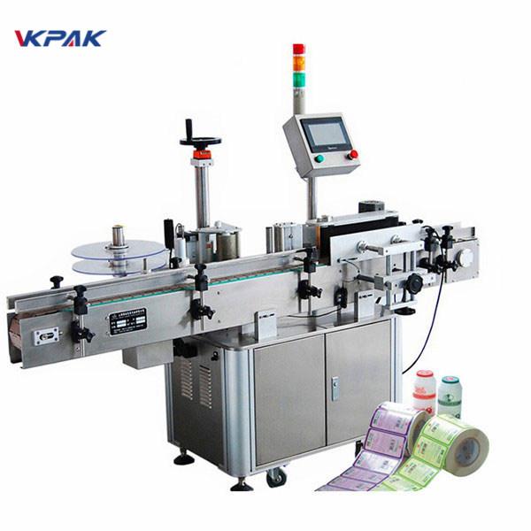 CE-godkännande flasketikettapplikatormaskin för rund flaskmärkning