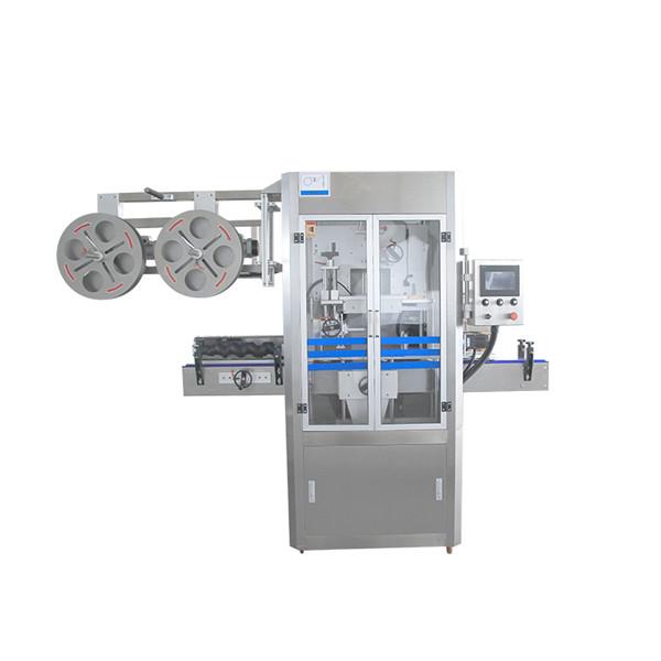 Cap tätning rostfritt stål krymp ärmapplikator maskin med ånggenerator