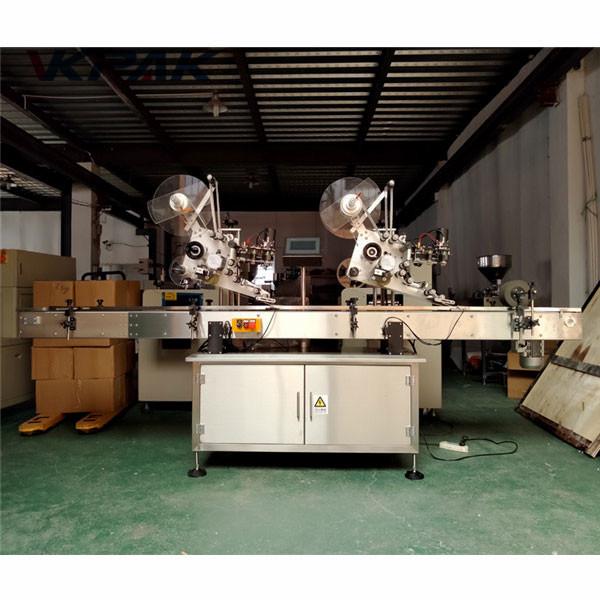 Platt yta låda märkning maskin med korrigering tejp märkning