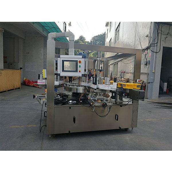 Höghastighets roterande klistermärkesmaskin med påfyllningsmaskinens alternativrem