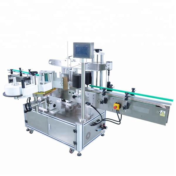 Hög hastighet rund flaskdekal märkningsmaskin för oregelbundna behållare