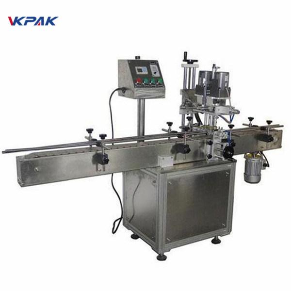Industriell dubbelsidig rund flaskmärkningsmaskin för kosmetiska produkter