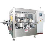 Juice Beer Bottle Onefold Rotary Sticker Labelling Machine