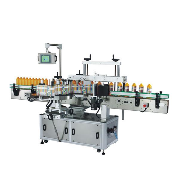 Odm plastflaskmärkningsmaskin med plc och pekskärm