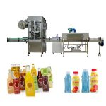Sällskapsduksflaskor krymphylsa märkningsmaskin med krymptunnel / ånggenerator