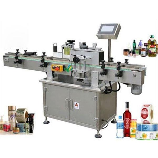 Runda flaskmärkningsmaskiner, svep runt etikettapplikatorn