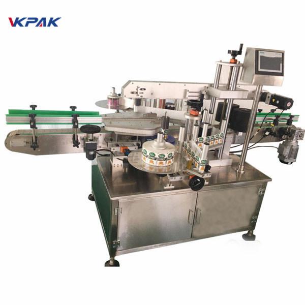 Skokrämmaskin för rund flaskmärkning
