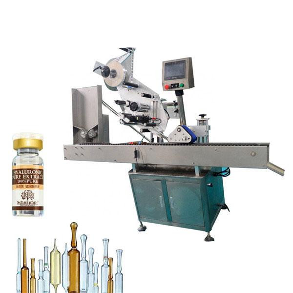 Liten rund flaskflaska etiketteringsmaskin för 10 ml flaska