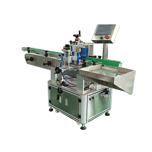 Fyrkantiga och runda flaskor automatiserad märkningsmaskin