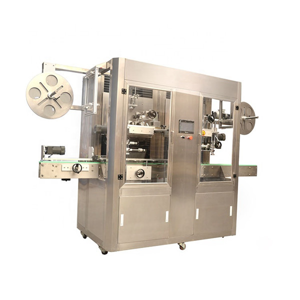 Etikettmaskin för krymphylsa i rostfritt stål