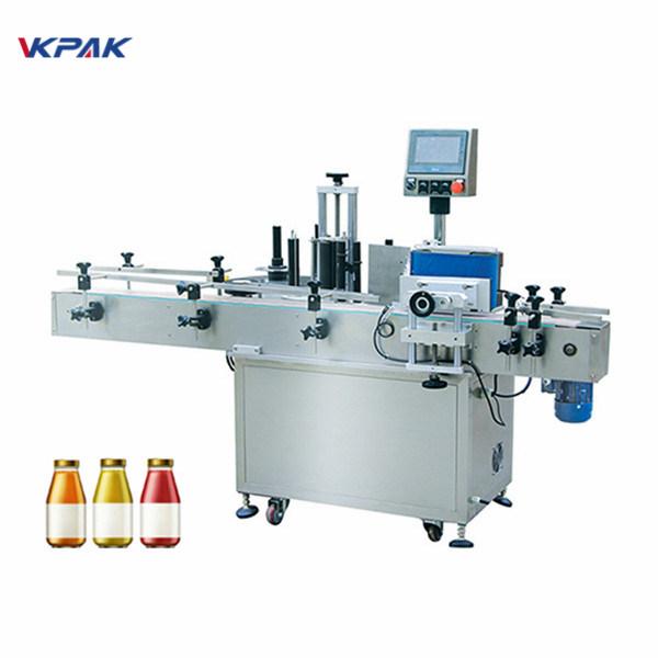 Vinflaska En sida automatisk rund flaskmärkningsmaskin
