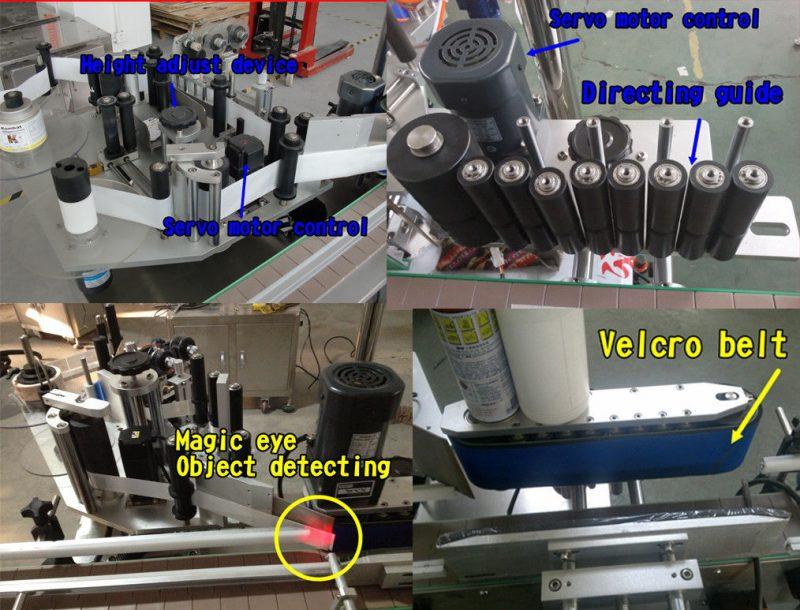 Kina Kosmetisk flaskdekal Rund flaskmärkning / självhäftande märkningsmaskin leverantör