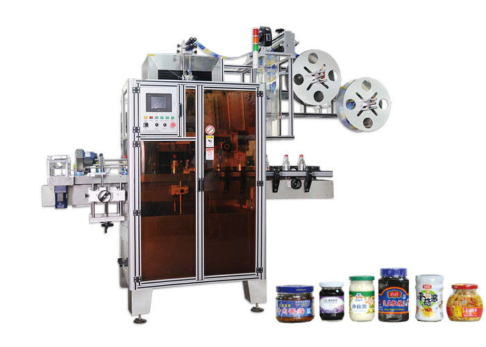 Kina PET automatisk krymphylsa märkningsmaskin hög effektivitet för flaskhalsleverantör
