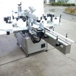 Automatisk tvåsidig klistermärkesmaskin med fram- och baksida