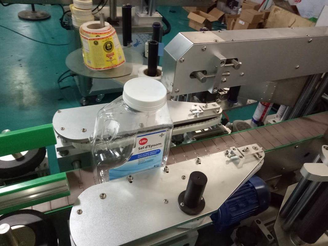 Två sidor fyrkantig flaskdekal märkningsmaskin för produkter för personlig vård