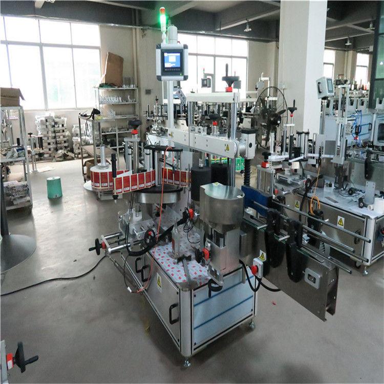 Platt flaska höghastighetsmärkningsmaskin två sidor för kosmetika / drycker