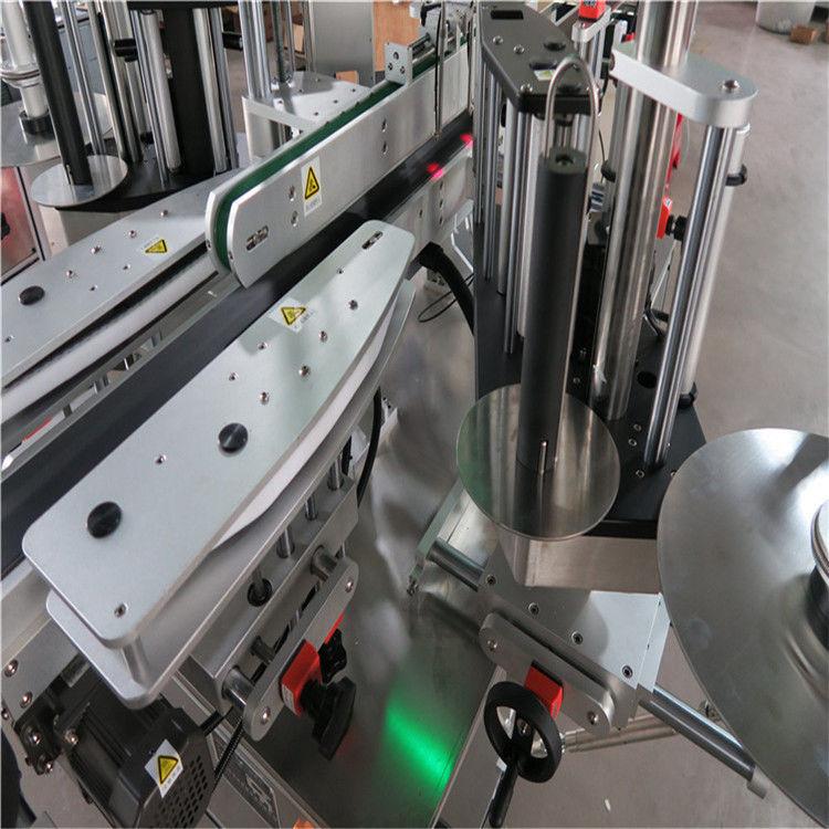 CE automatisk märkning av klistermärke, fram- och bakflaskmärkesmaskin