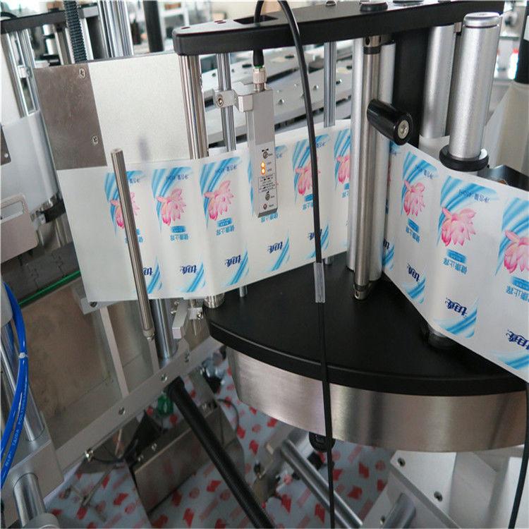 Automatisk en- / dubbelsidig sexkantig rund flaskdekal märkningsmaskin