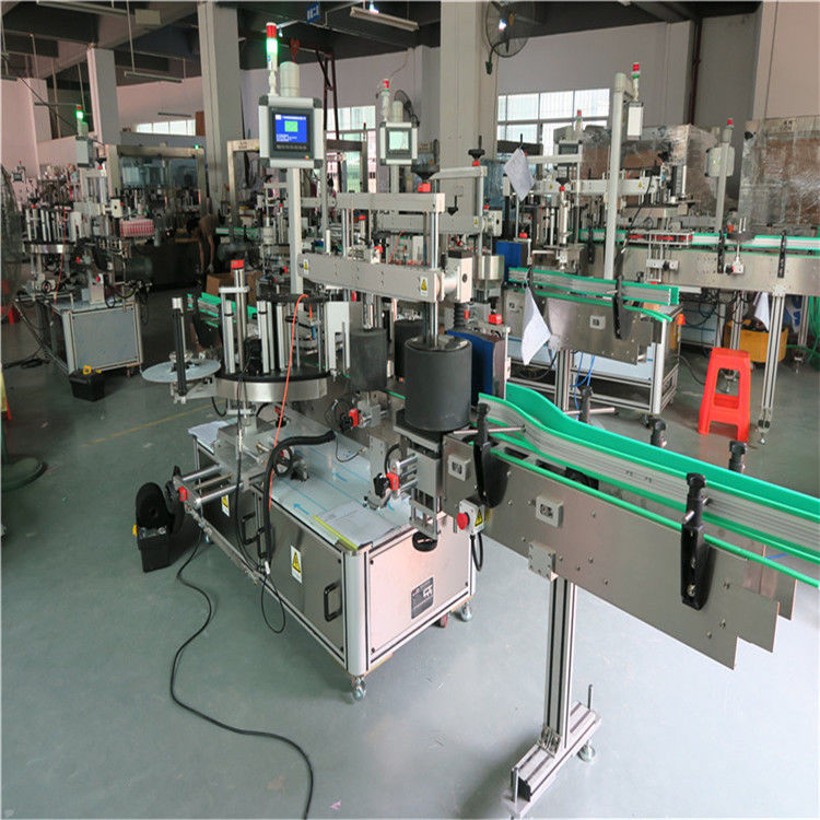 Runda husdjursflaskmärkningsmaskin, automatisk etikettapplikatormaskin