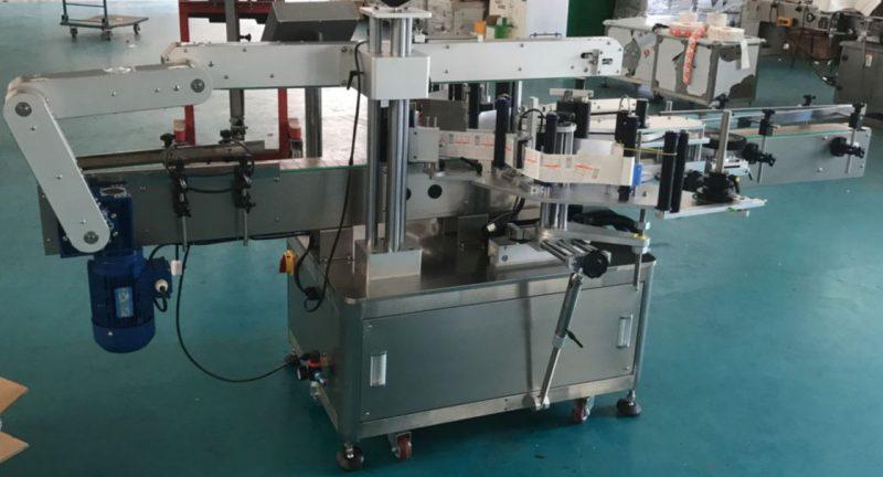Kina automatisk platt flaskglas flaskmärkning maskin, klistermärke maskin leverantör
