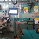Automatisk rund flaska dubbel sida klistermärke maskin för ölflaska