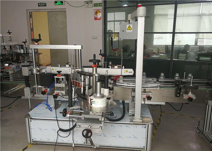 Kina fram / bak på icke-rund eller platt flasketikettapplikator, flaskmärkningutrustning leverantör