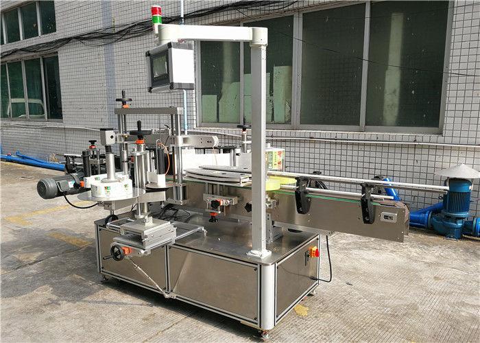 Schampo platt flaskmärkning maskin fram och bak