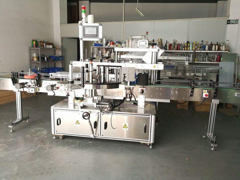 Kina rund flaskmärkning / helautomatisk platt ytaetikettapplikator leverantör
