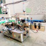 Märkningsmaskin för dubbelsidig klistermärke för schampo och tvättmedel