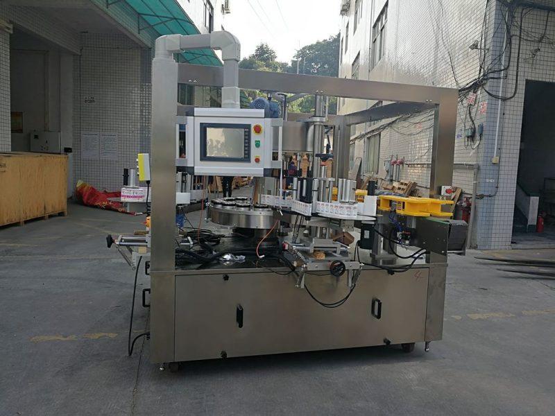 Kina höghastighets roterande klistermärke märkning maskin med fyllningsmaskin alternativ bälte leverantör