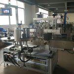Platt flaskmärkningsmaskin, automatisk etikettapplikatormaskin