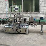 Tvåsidig automatisk klistermärkesmaskin med servomotor