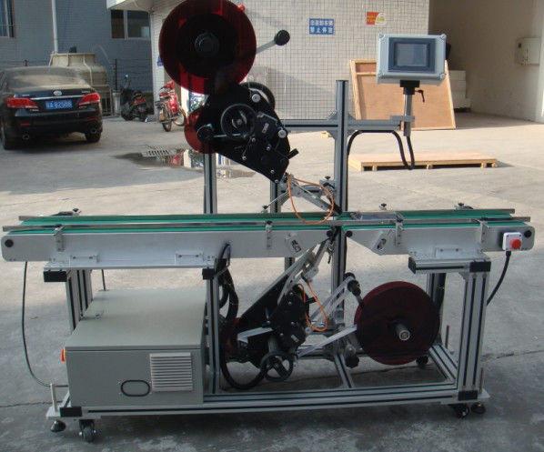 Högeffektiv toppmärkningsmaskin med transportband med delat band