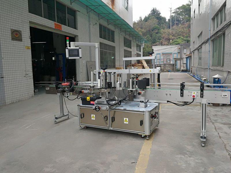 Kina tre sidor automatisk fyrkantig flaskmärkning maskin elektrisk driven typ leverantör