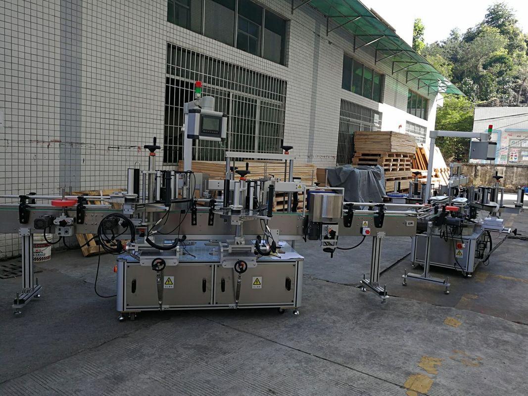 Platt / fyrkantig flaskdekal märkningsmaskin Helautomatisk kapacitet för 5000-8000B / H